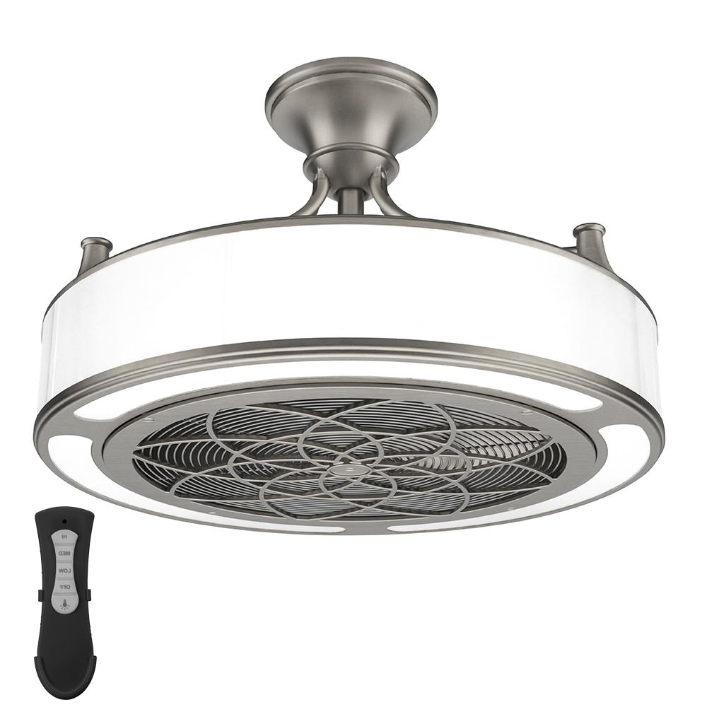 Most Recent Anderson 22 In Indoor Outdoor Ceiling Fan Light In Brushed Nickel Within Nickel Outdoor Ceiling Fans (View 8 of 20)