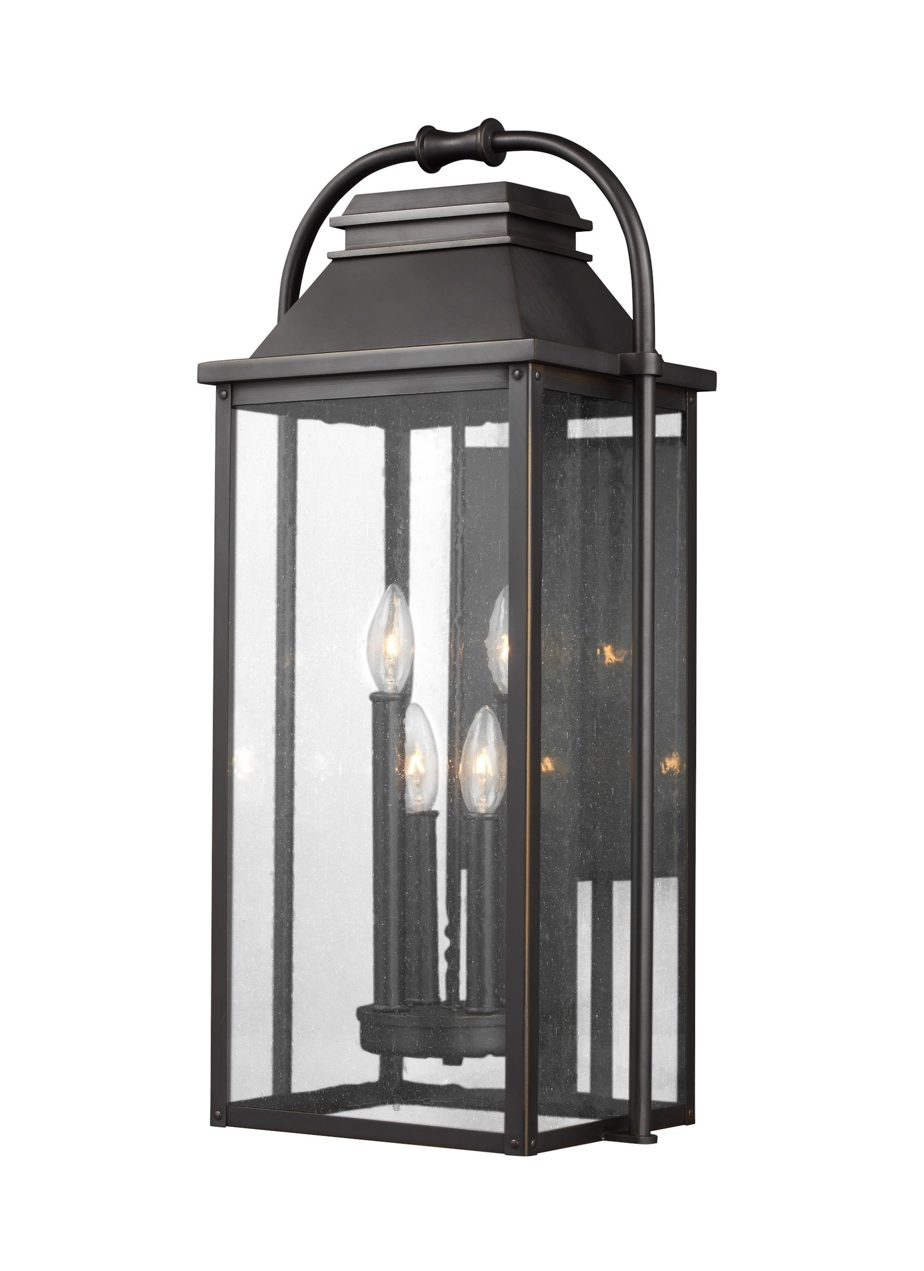 Most Recent Antique Outdoor Lanterns Inside Ol13202Anbz,4 – Light Outdoor Wall Lantern,antique Bronze (View 10 of 20)