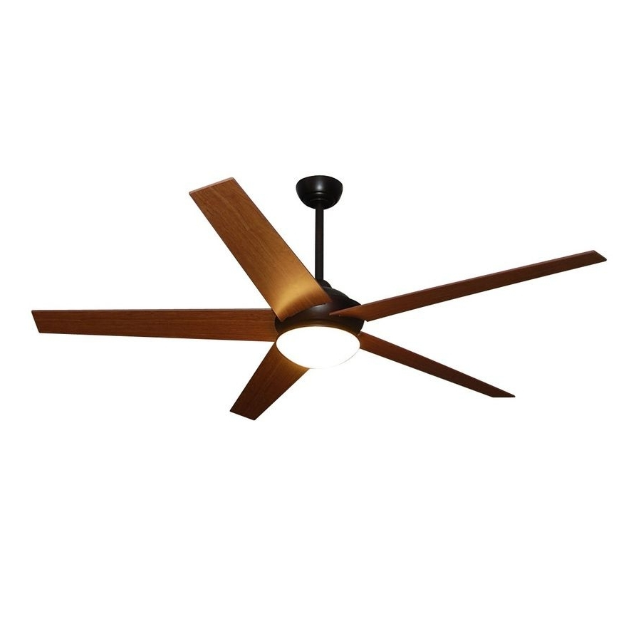 Most Recent Fanimation Studio Collection Covert 64 In Dark Bronze Downrod Mount Pertaining To Outdoor Ceiling Fans With Led Lights (View 7 of 20)