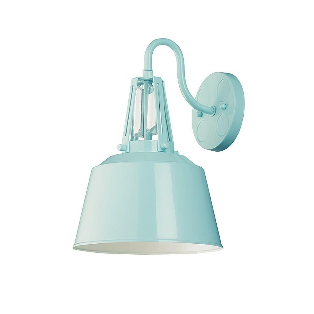 Most Recent Feiss Freemont Collection 1 Light Hi Gloss Blue Outdoor Wall Lantern Pertaining To Blue Outdoor Lanterns (View 13 of 20)