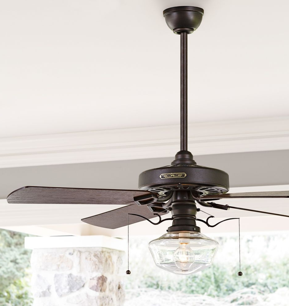 Most Recent Heron Ceiling Fan With Clear Ogee Shade (View 9 of 20)