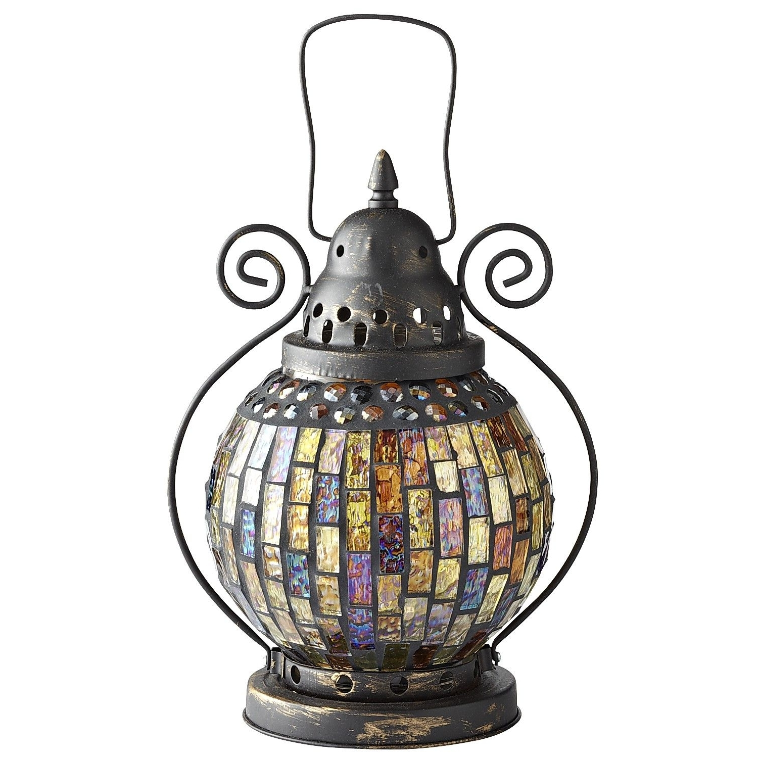 Most Recent Mosaic Lantern (View 12 of 20)