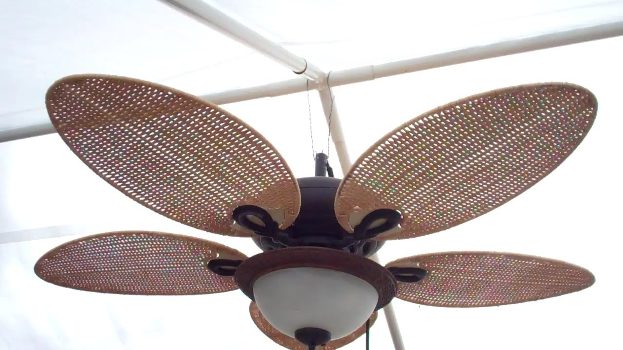 Most Recent Outdoor Ceiling Fans For Canopy Pertaining To Rigging Up A Gazebo Ceiling Fan – Youtube (View 2 of 20)
