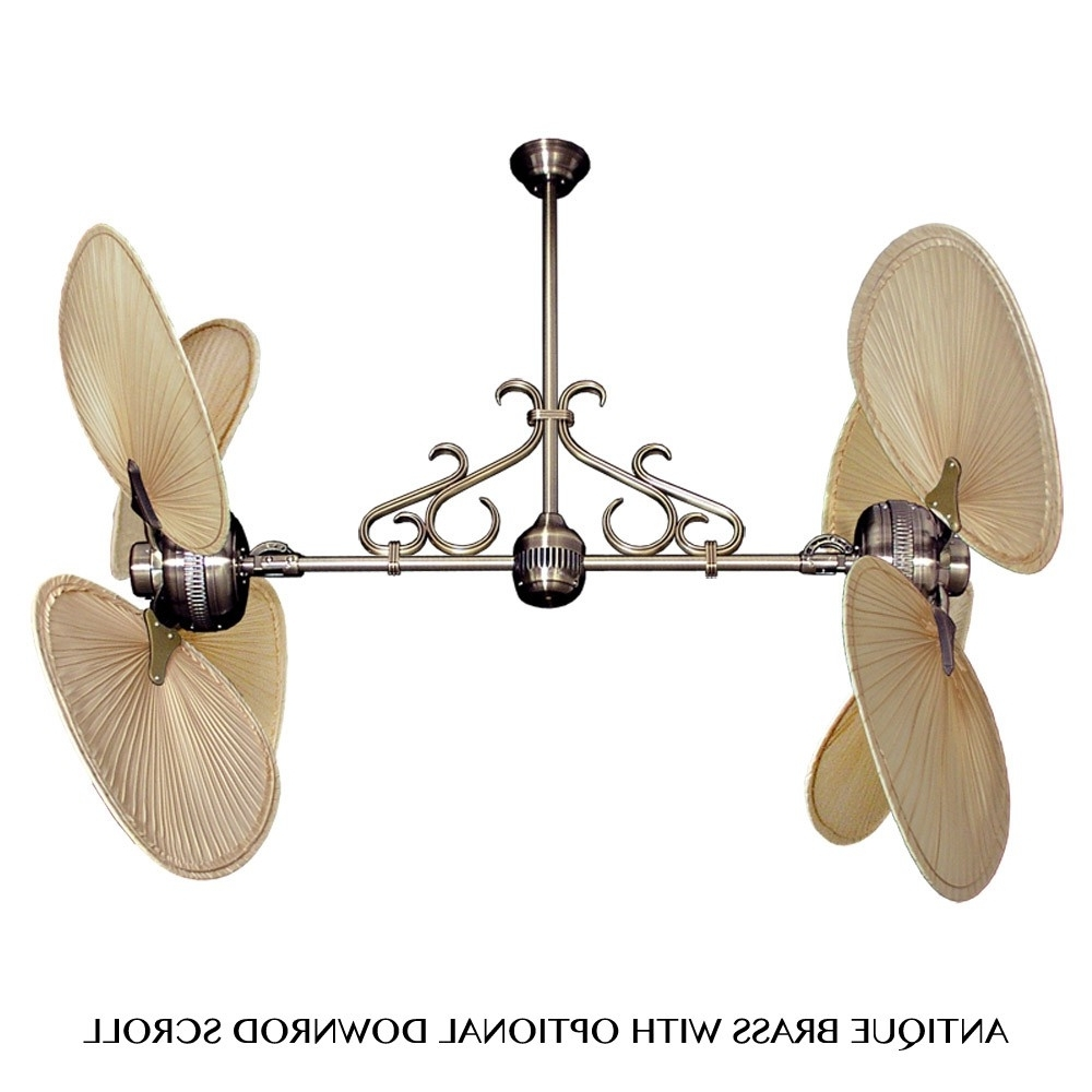 Most Recent Outdoor Ceiling Fans With Palm Blades Pertaining To Tropical Ceiling Fans With Palm Leaf Blades, Bamboo, Rattan And More (View 12 of 20)