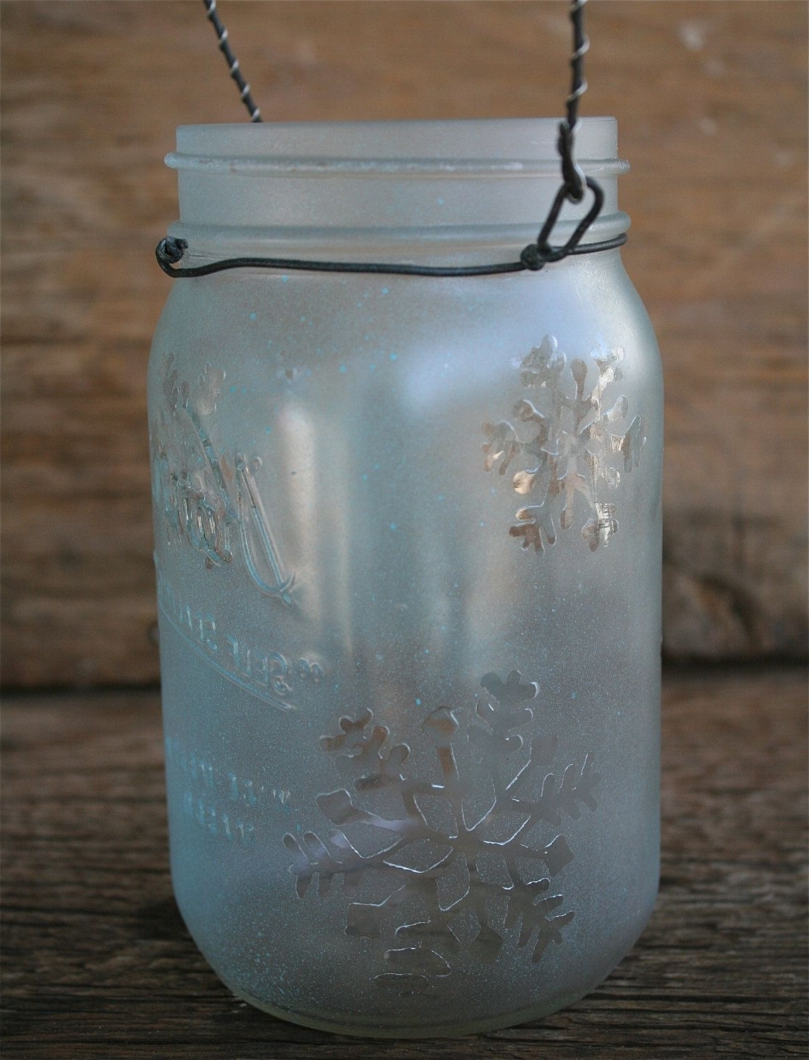 Most Recent Outdoor Jar Lanterns In Mason Jar Lantern, Snowflakes Christmas And Winter Decoration (View 16 of 20)