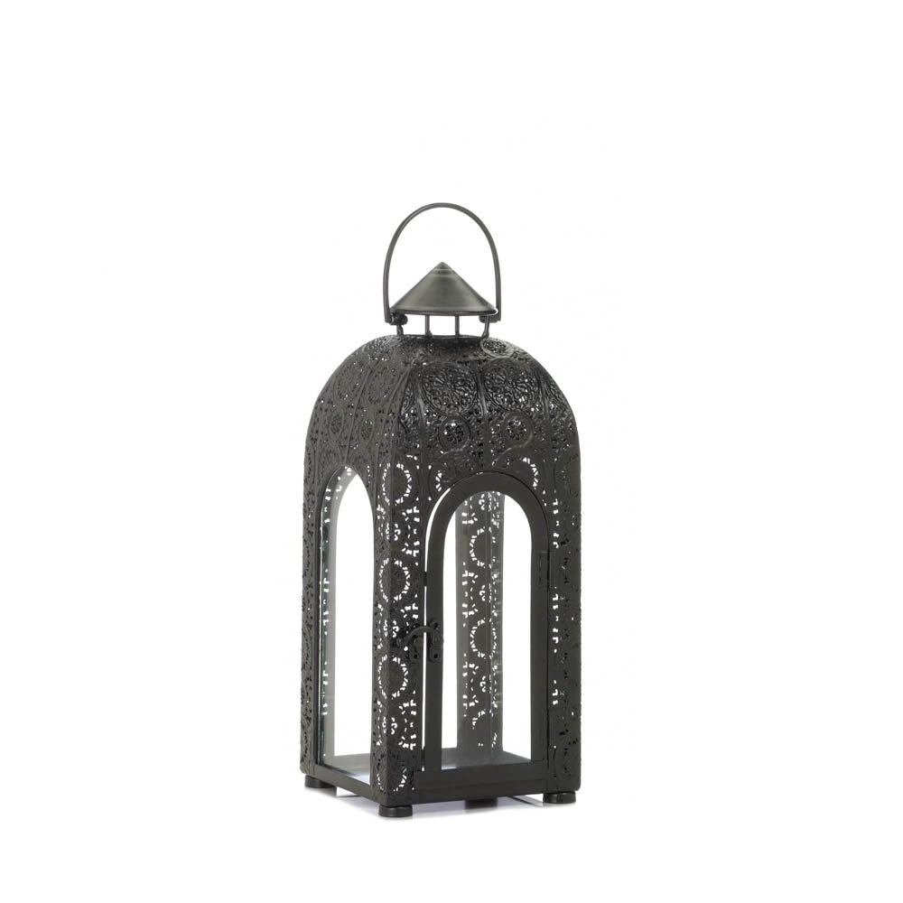 Most Recent Outdoor Lanterns Decors Regarding Candle Lantern Decor, Rustic Black Candle Lantern Outdoor – Buy (View 12 of 20)