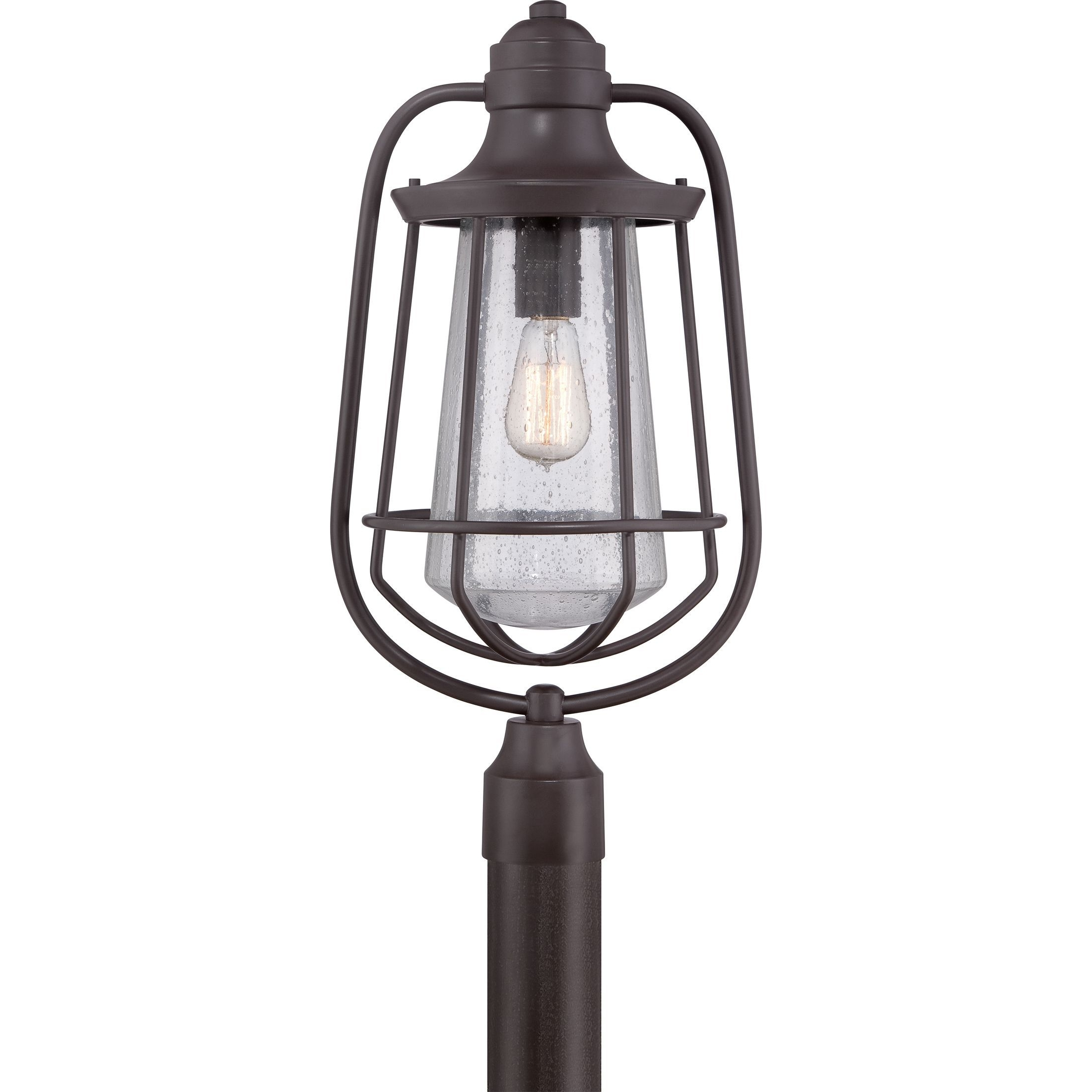 Most Recent Outdoor Lanterns On Post In Quoizel 1 Light Marine Western Bronze Large Post Lantern (Western (View 12 of 20)