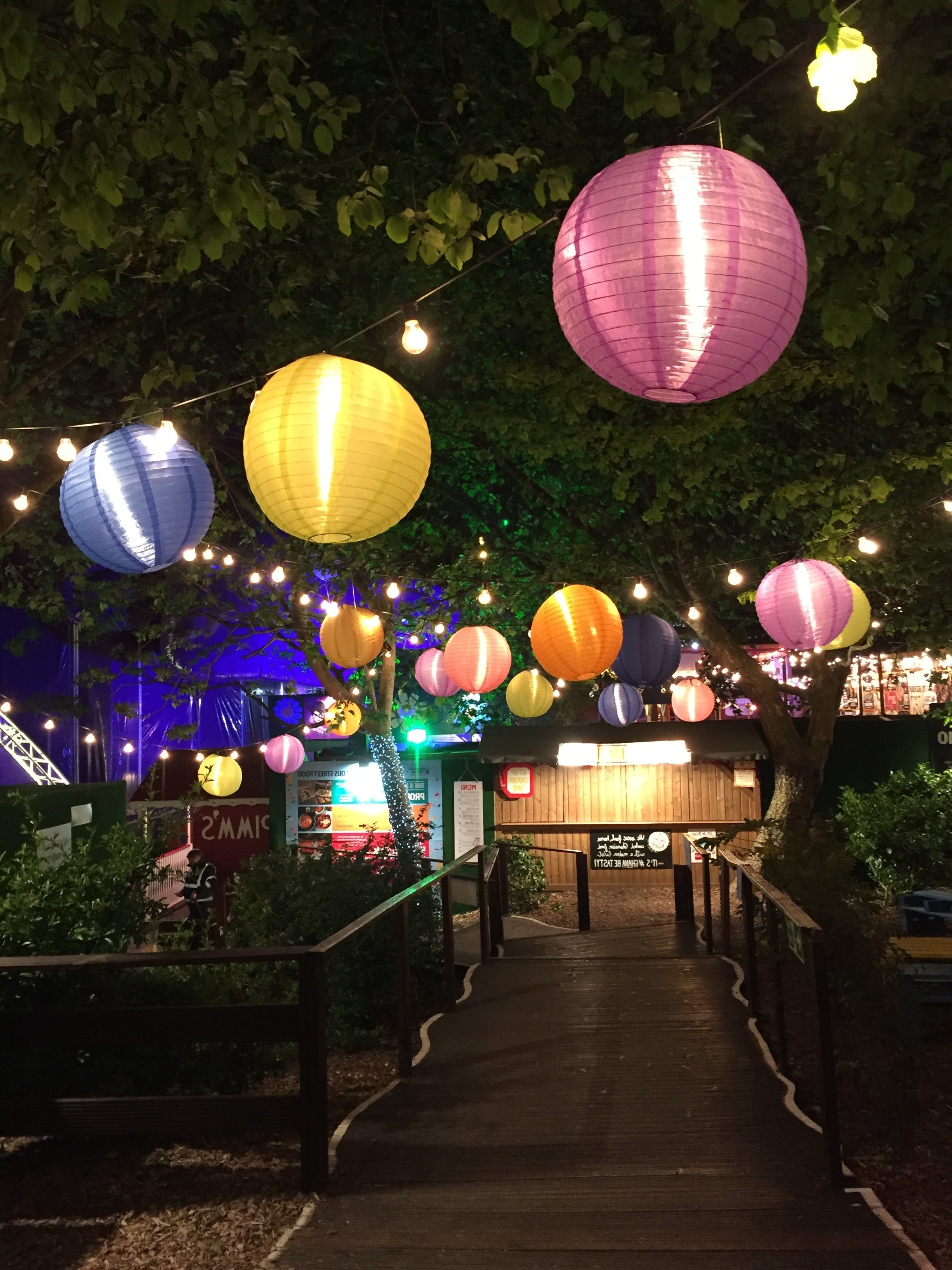 Most Recent Outdoor Paper Lanterns Inside Free Photo: Assorted Hanging Paper Lamps – Paper Lanterns, Park (View 8 of 20)