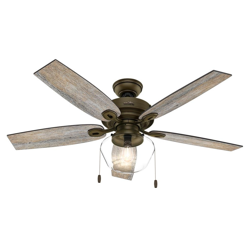 Most Recent Vertical Outdoor Ceiling Fans With Regard To Hunter Donegan 52 In (View 10 of 20)