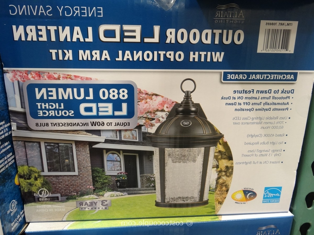 Most Recently Released Altair Led Outdoor Coach Lantern Light Costco Dimensions Lighting With Regard To Outdoor Lanterns With Led Lights (View 7 of 20)