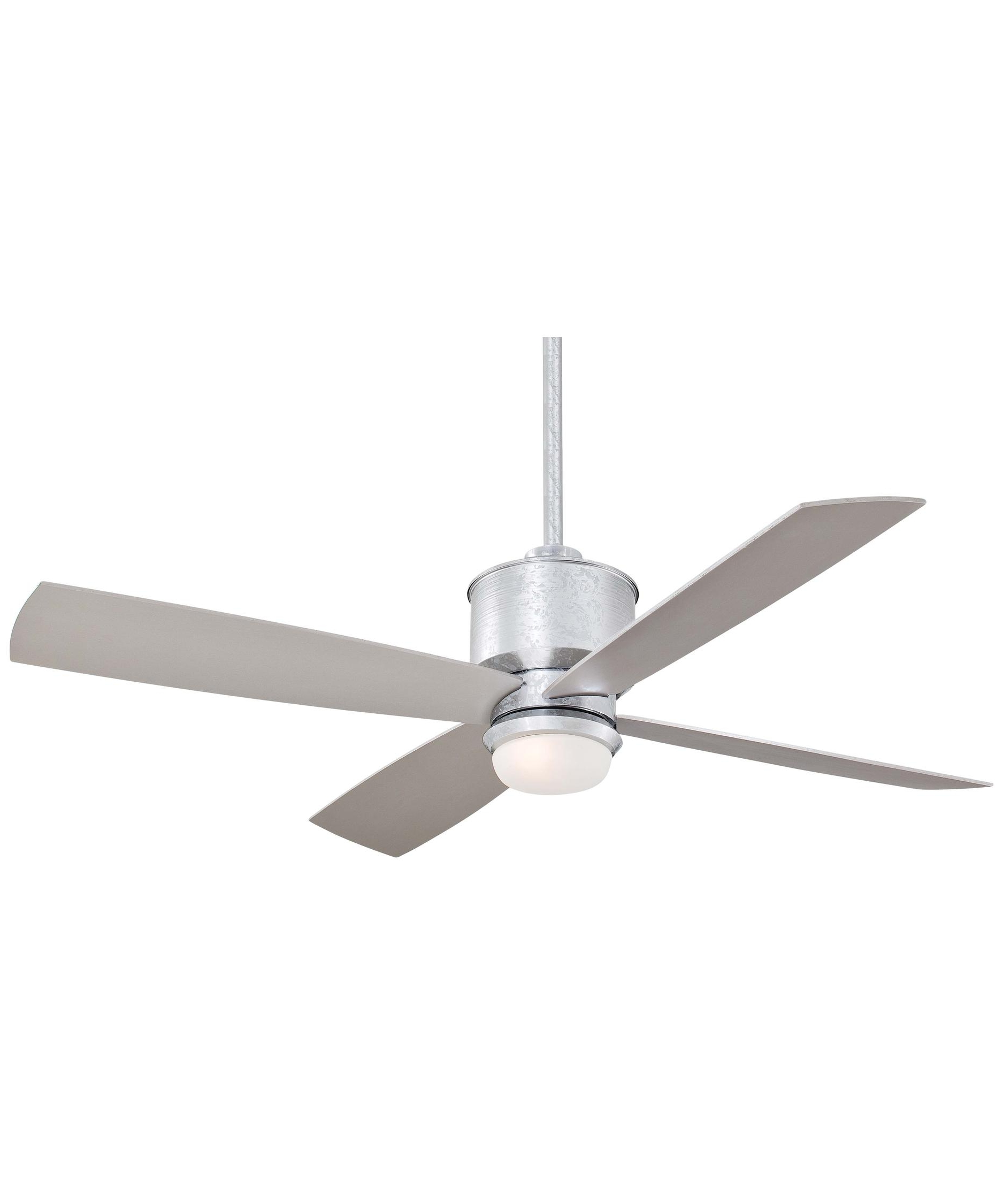 Most Recently Released Galvanized Outdoor Ceiling Fans With Light Inside Minka Aire F734 Strata 52 Inch 4 Blade Ceiling Fan (View 17 of 20)