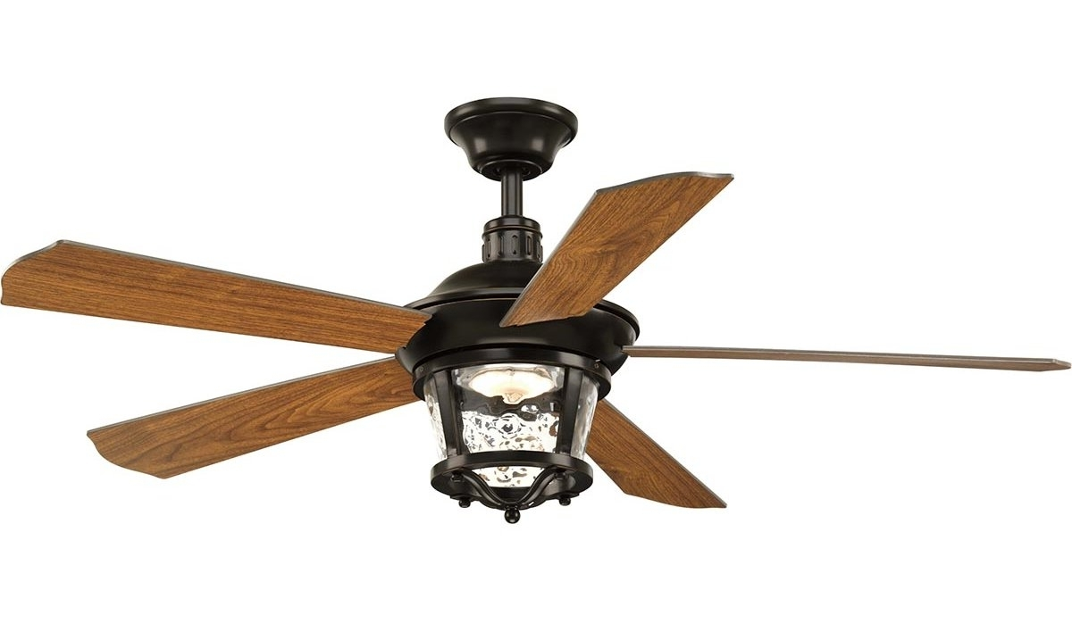 Most Recently Released High End Outdoor Ceiling Fans With Mueller 5 Blade Outdoor Ceiling Fan & Reviews (View 15 of 20)