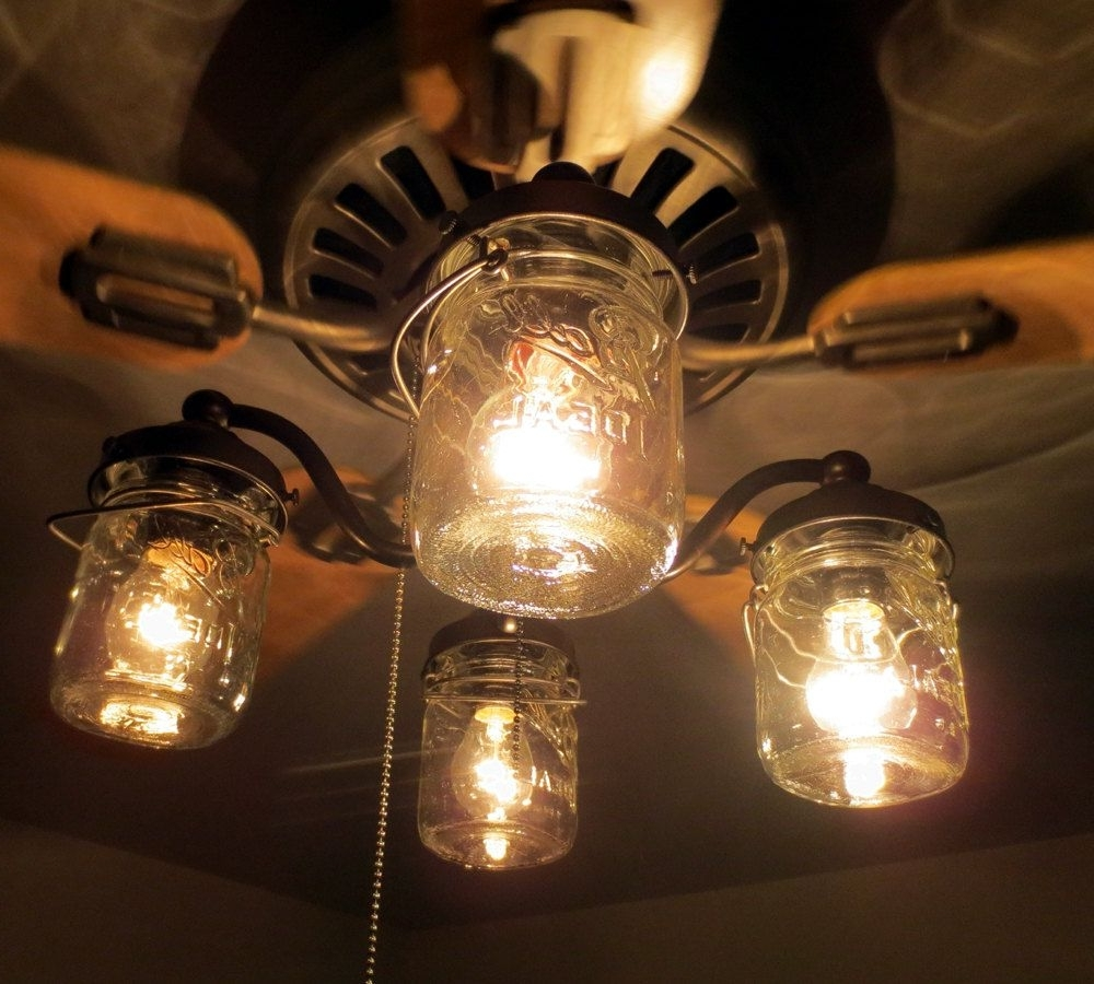 Most Recently Released Mason Jar Ceiling Fan Light Kit Only With Vintage Pints – Farmhouse With Regard To Outdoor Ceiling Fans With Mason Jar Lights (View 12 of 20)