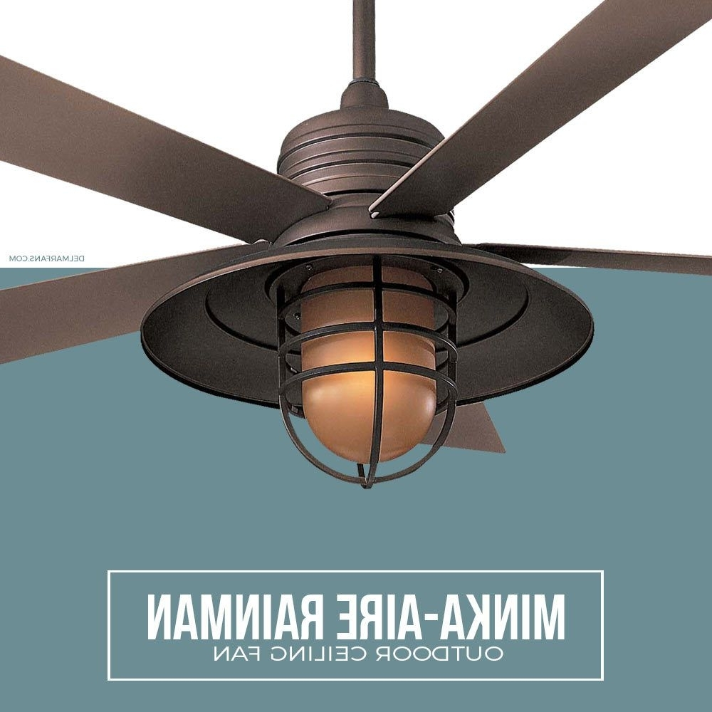 Most Recently Released Nautical Outdoor Ceiling Fans For Nautical Ceiling Fans Like The Minka Aire Rainman Feature An (View 10 of 20)