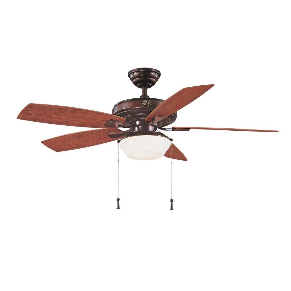 Most Recently Released Outdoor Ceiling Fans For Gazebos Throughout Hampton Bay Gazebo 52 In (View 9 of 20)