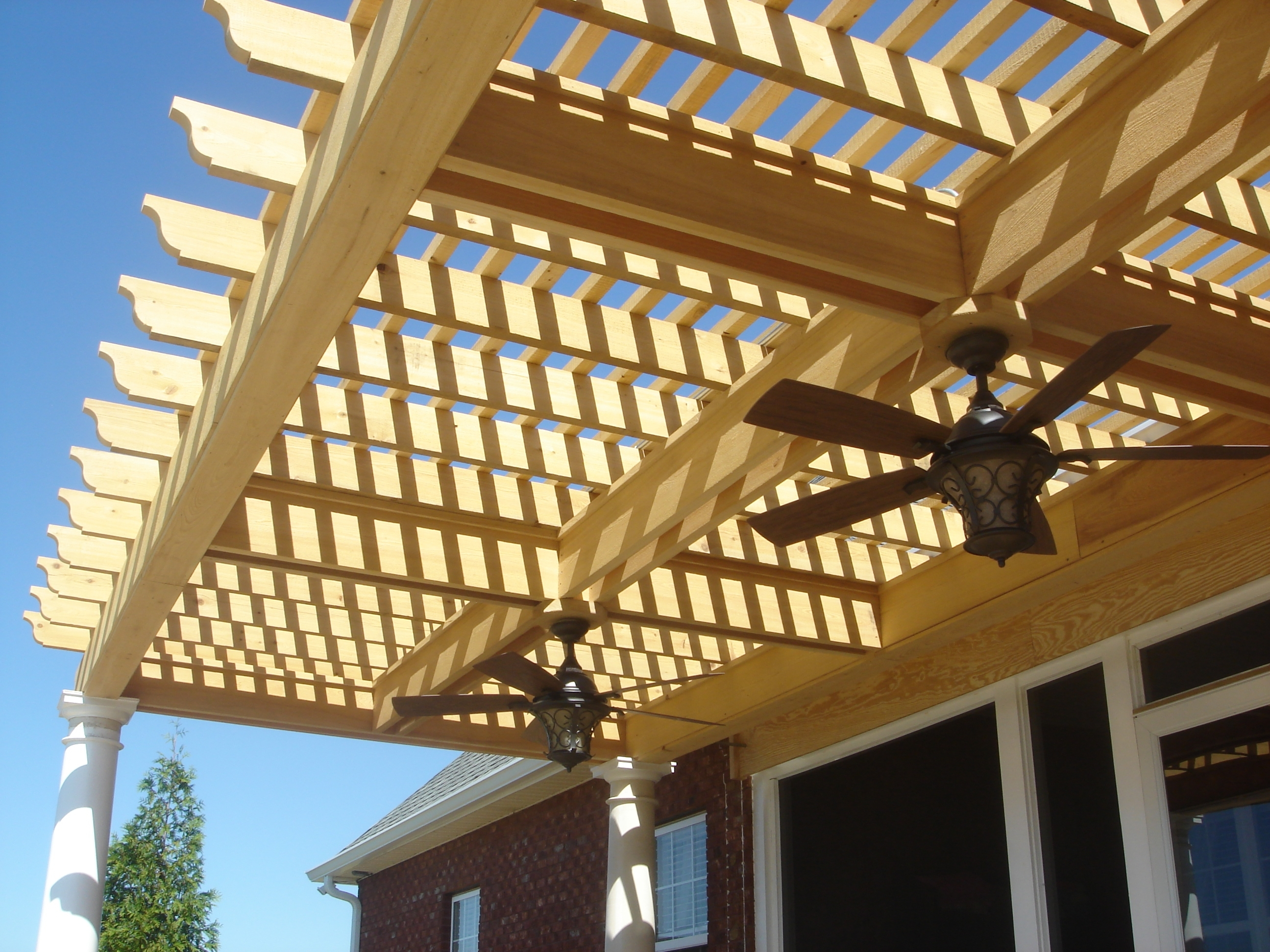Most Recently Released Outdoor Ceiling Fans Under Pergola With Regard To How To Add Lights To A Deck, Screened Porch Or Pergolaarchadeck (View 11 of 20)