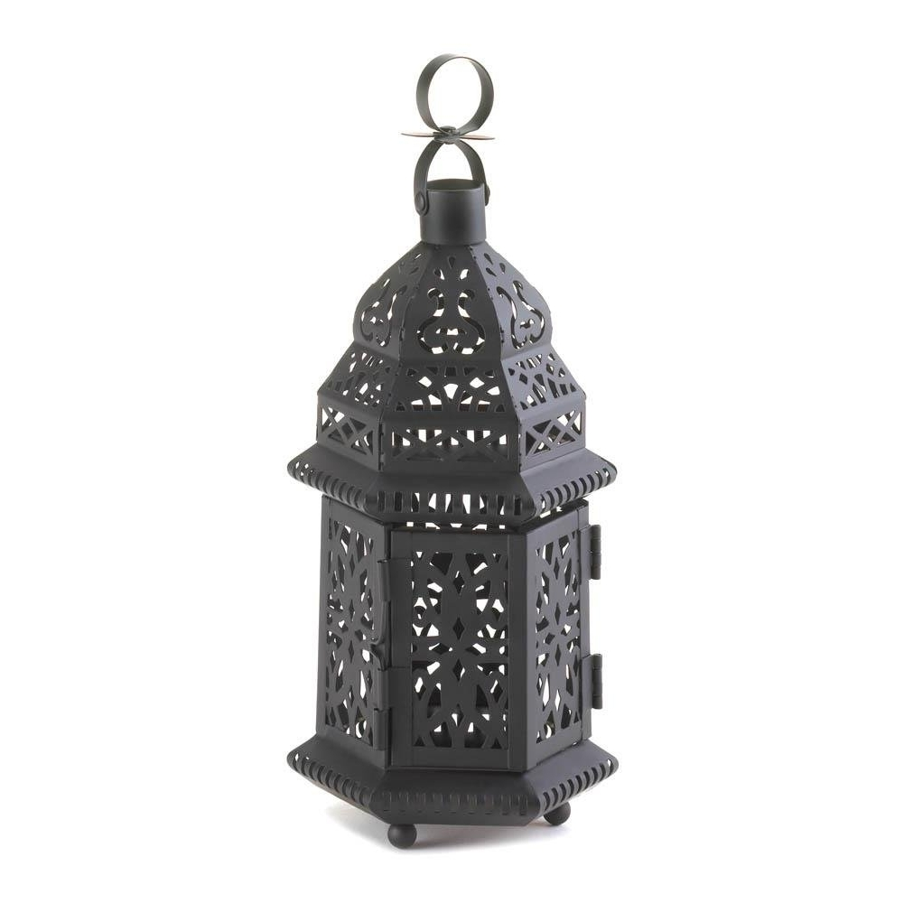 Most Recently Released Outdoor Iron Lanterns Pertaining To Floor Lanterns, Moroccan Hanging Metal Decorative Patio Lantern (View 13 of 20)