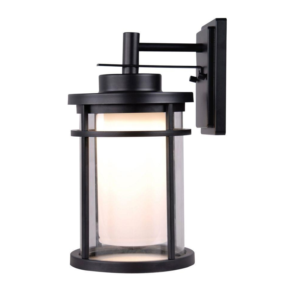 Most Recently Released Outdoor Lanterns And Sconces For Black Home Decorators Collection Outdoor Lanterns Sconces Dwbk (View 3 of 20)