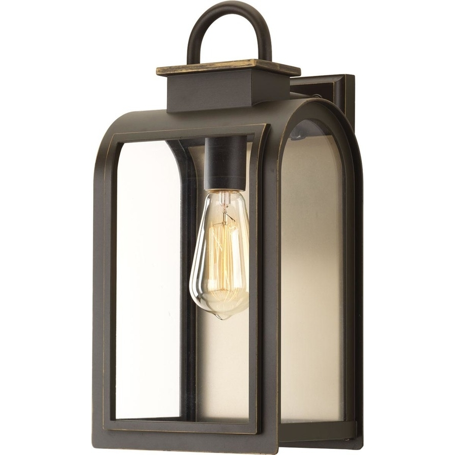 Most Recently Released Outdoor Oil Lanterns Regarding Shop Progress Lighting Refuge 16 In H Oil Rubbed Bronze Outdoor Wall (View 13 of 20)