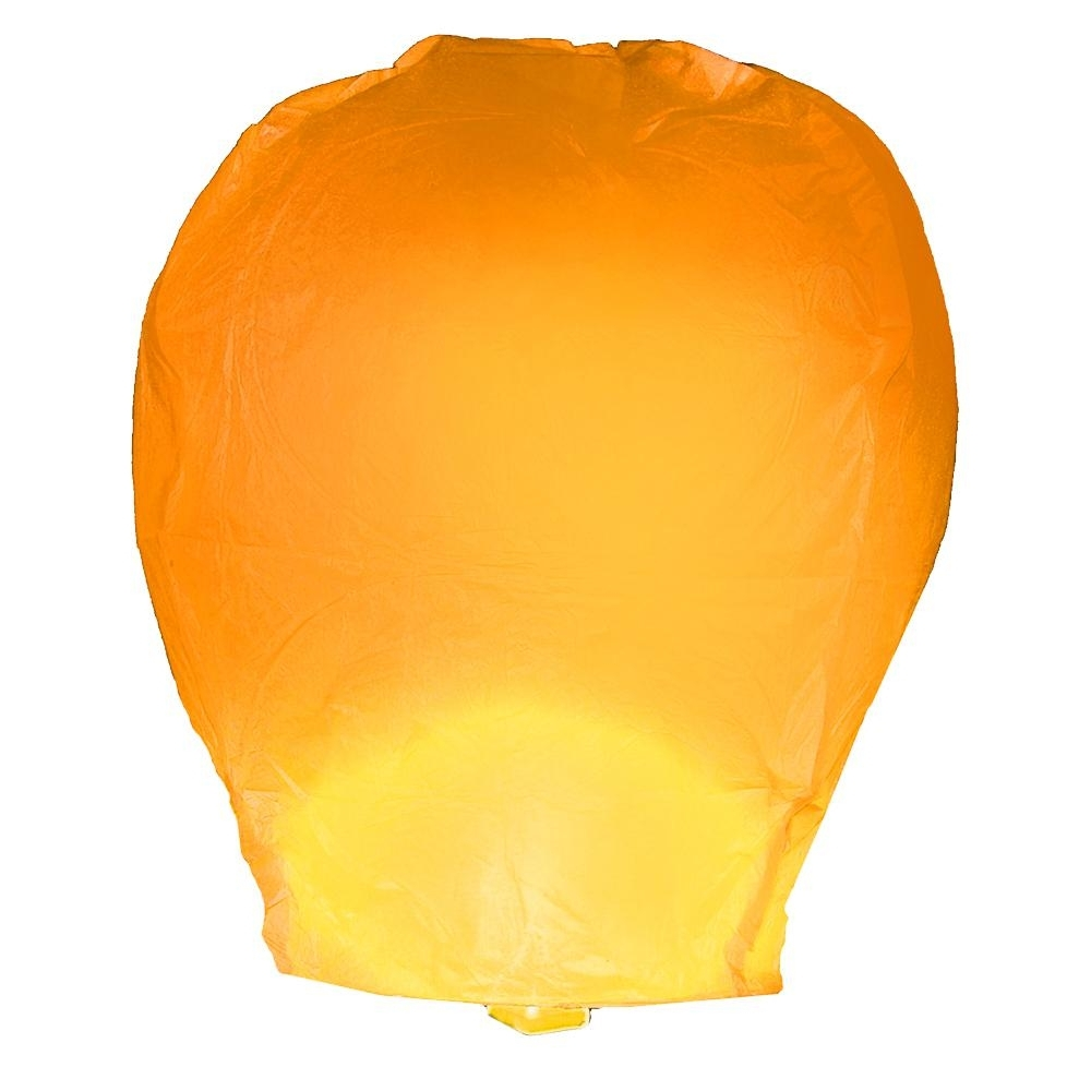 Most Recently Released Outdoor Orange Lanterns For Lumabase Orange Sky Lanterns (Set Of 4) 74204 – The Home Depot (View 9 of 20)