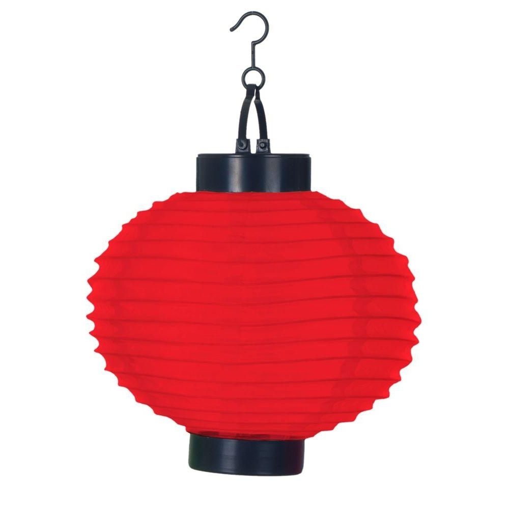 Most Recently Released Outdoor Orange Lanterns Pertaining To Pure Garden 4 Light Red Outdoor Led Solar Chinese Lantern 50 19 R (View 3 of 20)