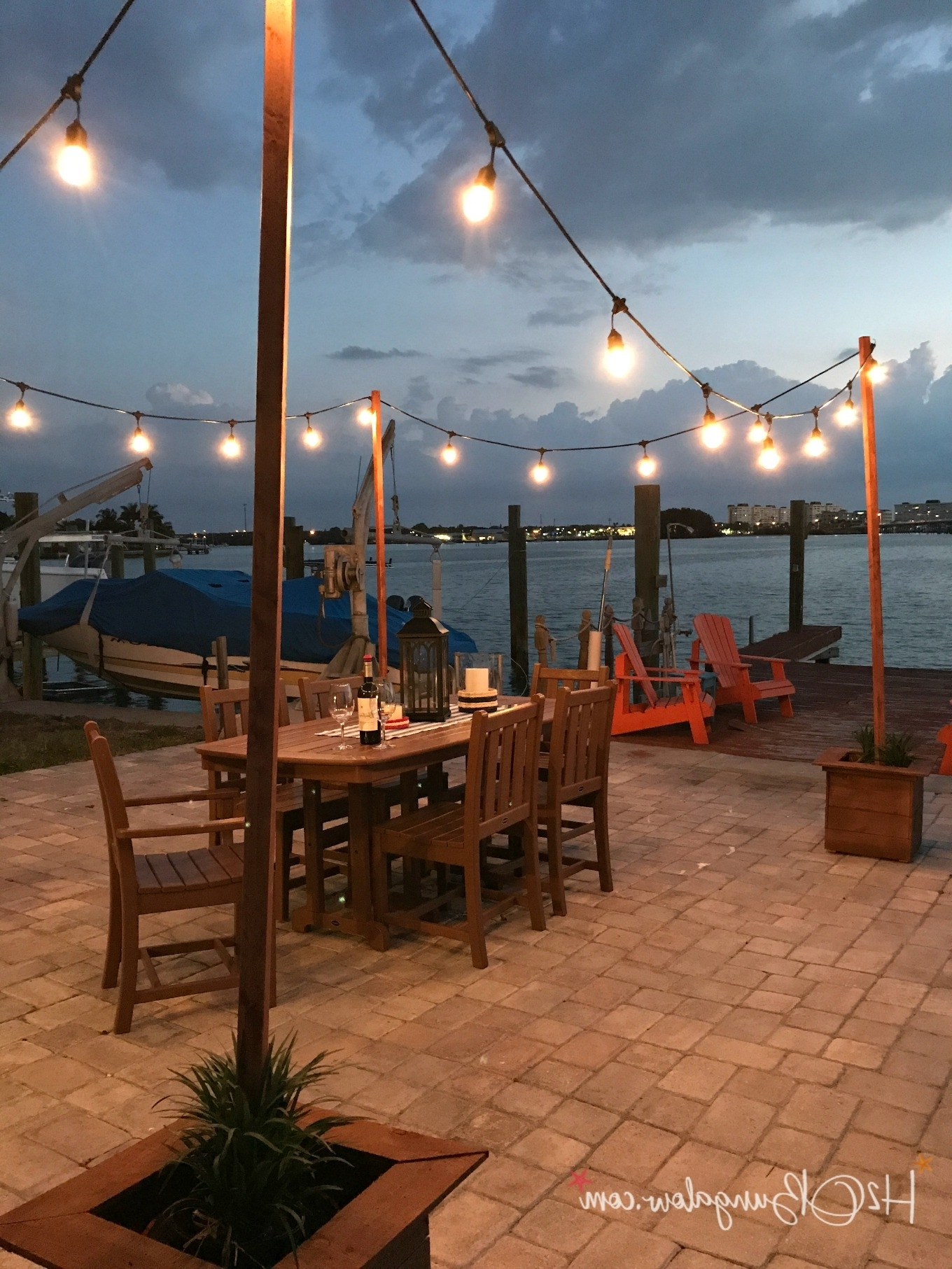 Most Recently Released Outdoor String Lanterns With Diy Outdoor String Lights On Poles – H20Bungalow (View 9 of 20)