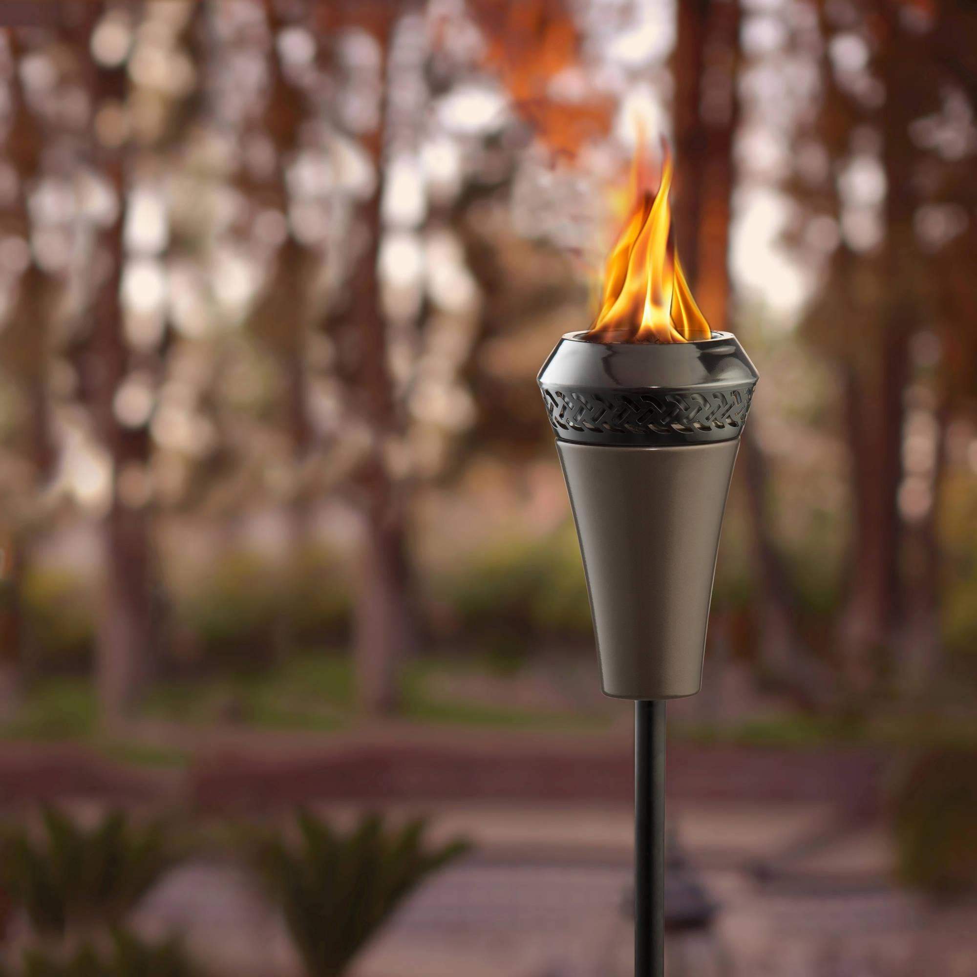 Most Recently Released Outdoor Tiki Lanterns Throughout Tiki Royal Polynesian Torch – Walmart (View 14 of 20)