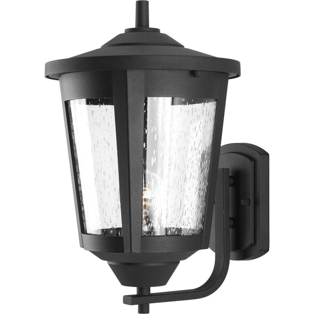 Most Recently Released Progress Lighting East Haven Collection 1 Light Large Black Outdoor Intended For Large Outdoor Wall Lanterns (View 14 of 20)
