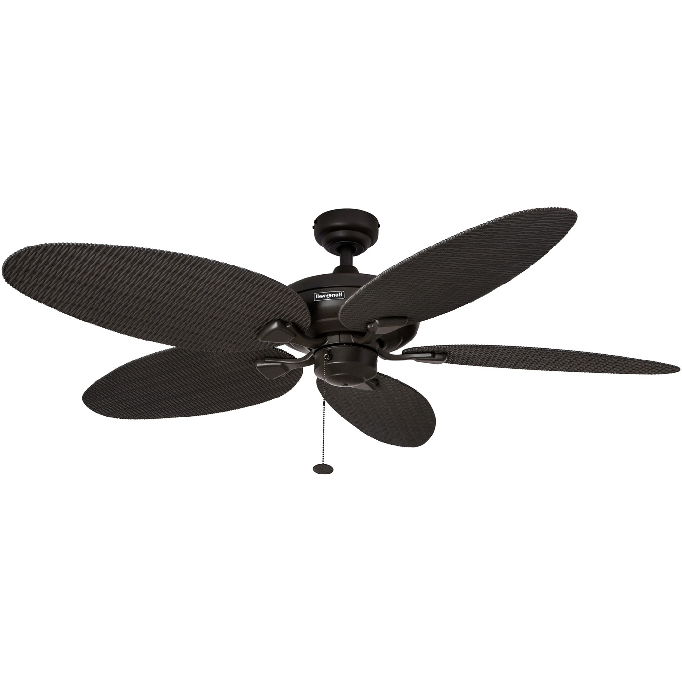 "Most Recently Released Shop 52"" Honeywell Duval Bronze Indoor/outdoor Ceiling Fan With In Wicker Outdoor Ceiling Fans (View 4 of 20)"