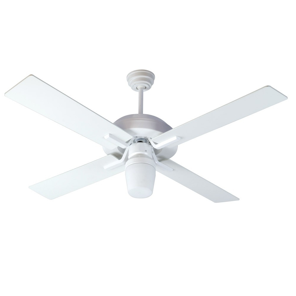 Most Recently Released Wet Rated Outdoor Ceiling Fans With Light Regarding South Beach Ceiling Fancraftmade Fans Sb52w4 – 52 Inch Wet Rated (View 14 of 20)