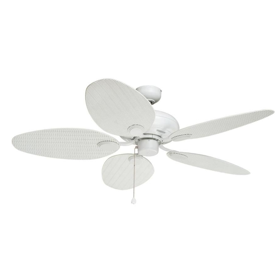 Most Recently Released White Outdoor Ceiling Fans With Regard To Shop Harbor Breeze Tilghman 52 In Matte White Indoor/outdoor Ceiling (View 5 of 20)