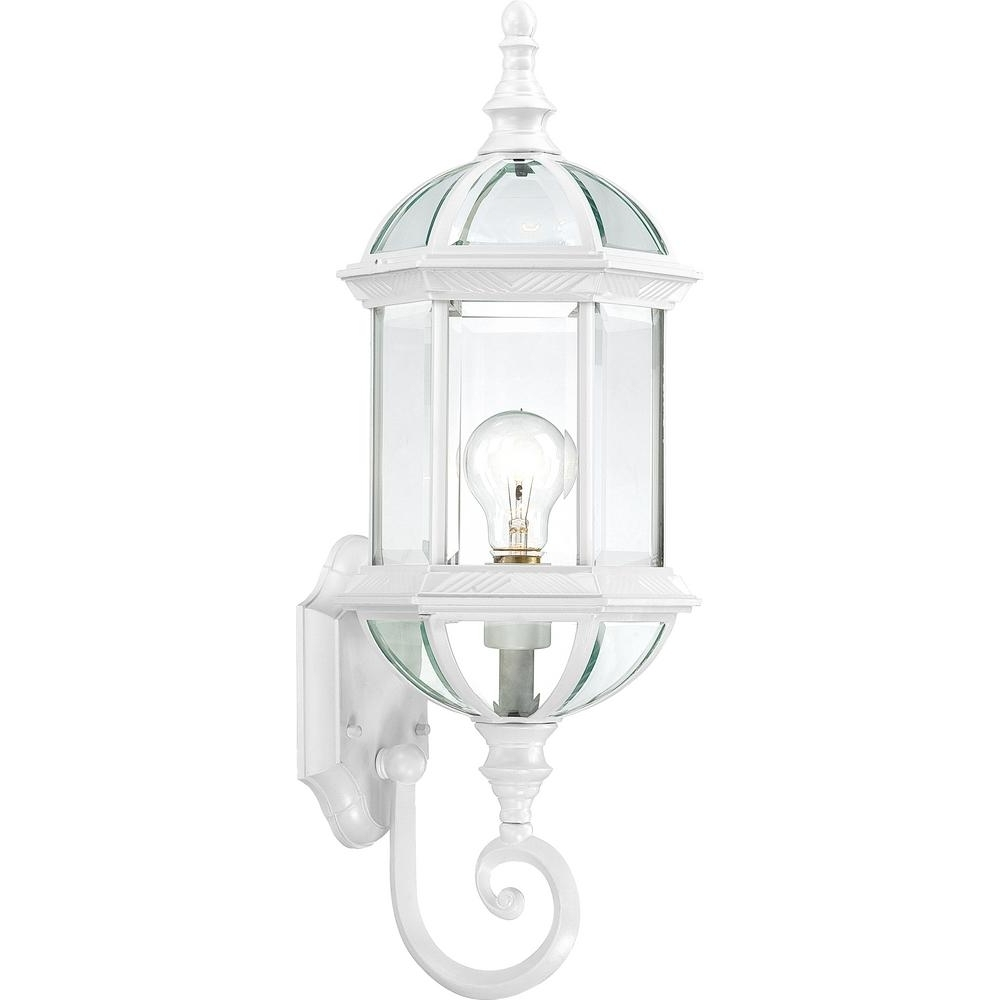 Most Recently Released White Outdoor Lanterns Pertaining To Filament Design 1 Light White Outdoor Wall Mount Lantern Hd  (View 7 of 20)