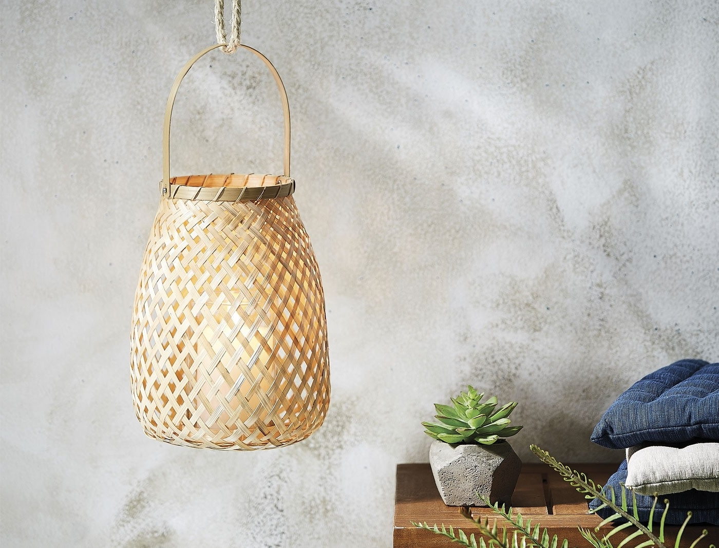 Most Recently Released Woven Bamboo Hanging Lantern – Natural For Outdoor Bamboo Lanterns (View 10 of 20)