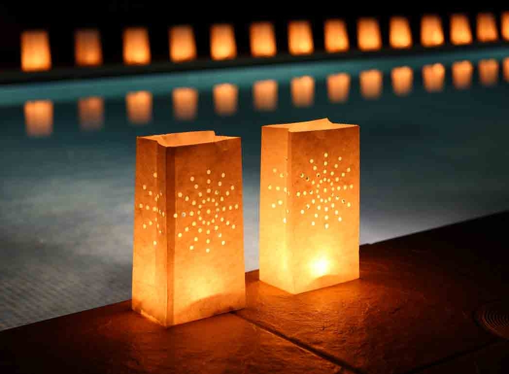 Most Up To Date 10 Candle Bags For Lanterns & Tealights – Garden Outdoor Parties And Throughout Outdoor Lanterns For Parties (View 4 of 20)