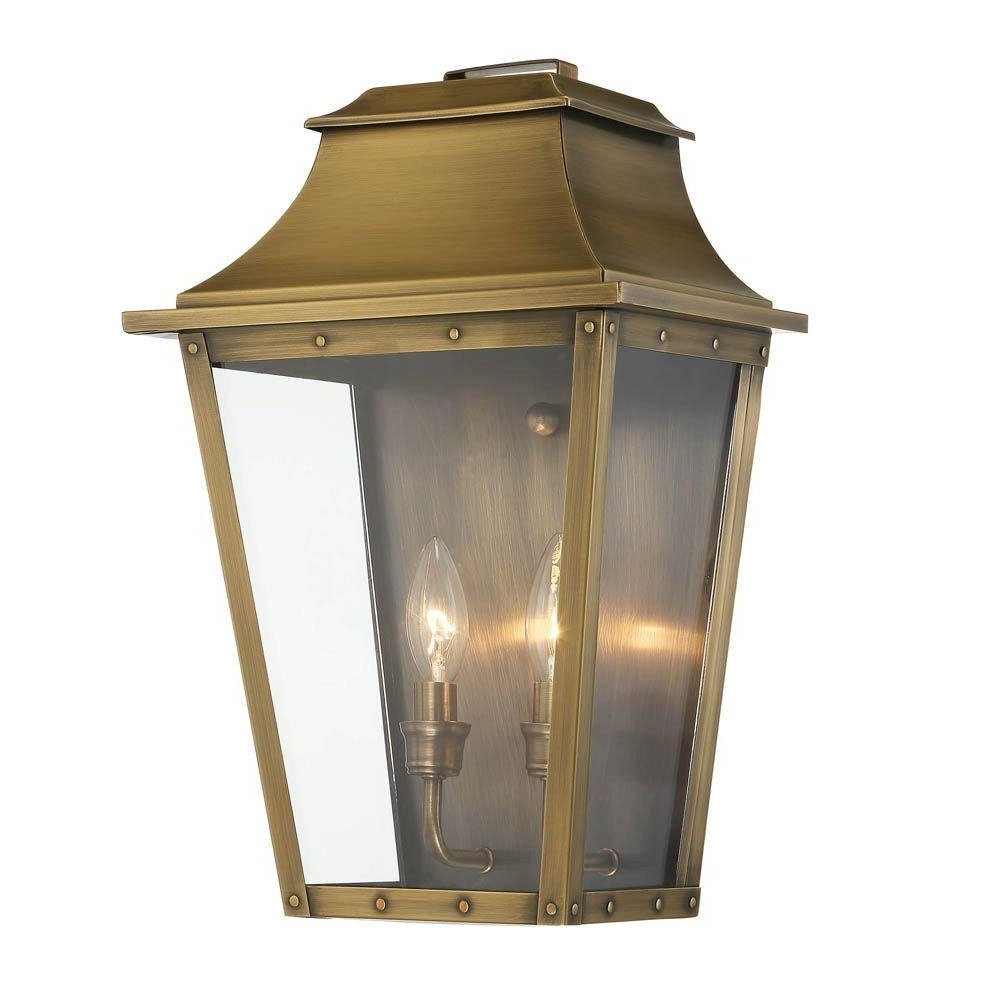 Most Up To Date Acclaim Lighting Coventry Collection 2 Light Aged Brass Outdoor Wall With Brass Outdoor Lanterns (View 2 of 20)
