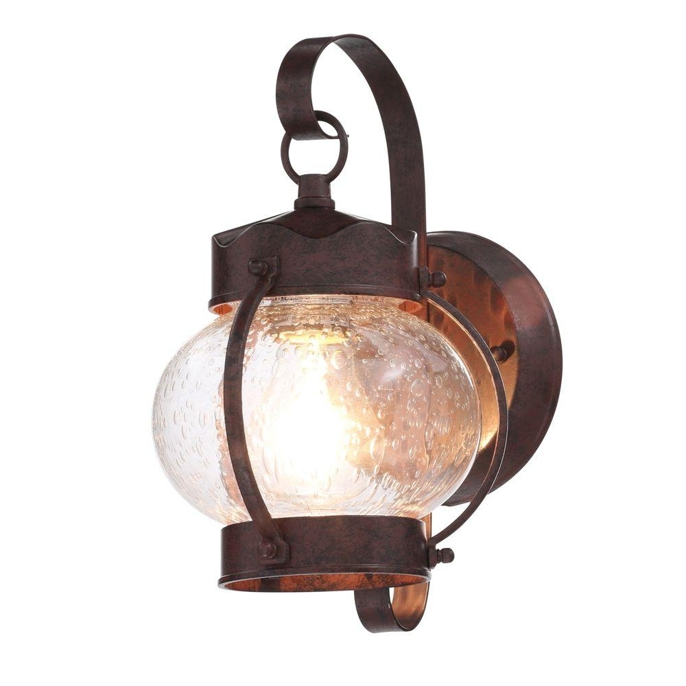 Most Up To Date Antique Outdoor Lanterns For Glomar 1 Light Old Bronze Outdoor Onion Wall Mount Lantern With (View 11 of 20)