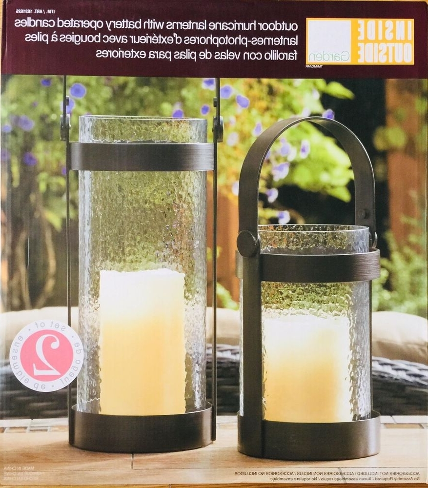 Most Up To Date Inside Outside Garden Hurricane Lanterns (2 Pack) With Battery For Outdoor Lanterns With Battery Operated Candles (View 11 of 20)