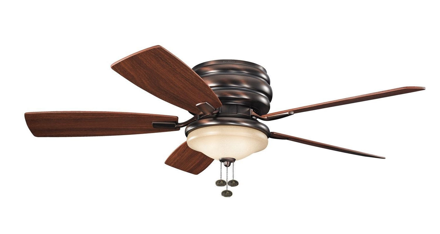 """Most Up To Date Kichler 300119 52"""" Outdoor Ceiling Fan With Blades Light Kit And With Outdoor Ceiling Fans With Pull Chain (View 3 of 20)"""