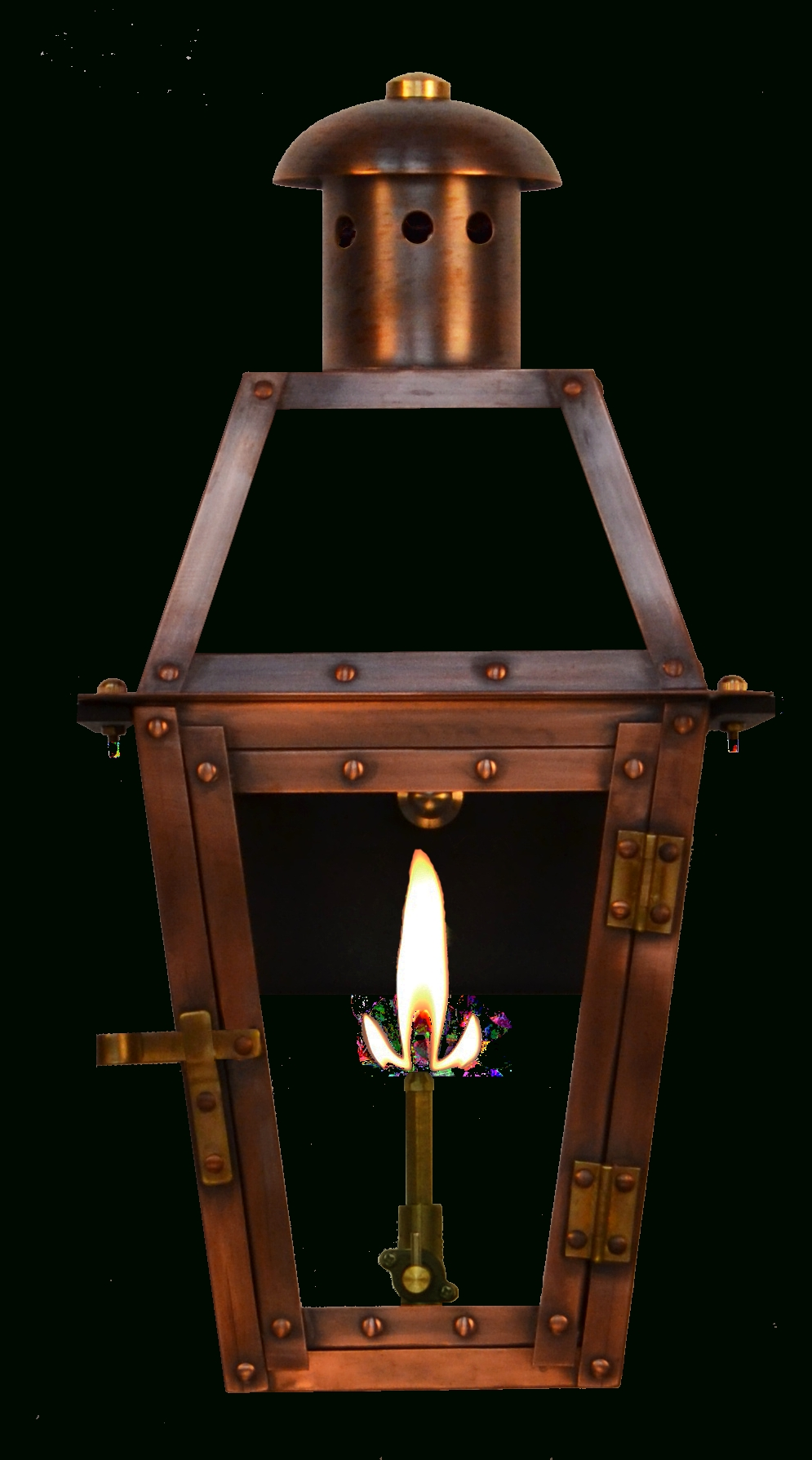 Most Up To Date Large Outdoor Electric Lanterns Within Georgetown Gas Or Electric Copper Lantern – French Market Gas (View 15 of 20)