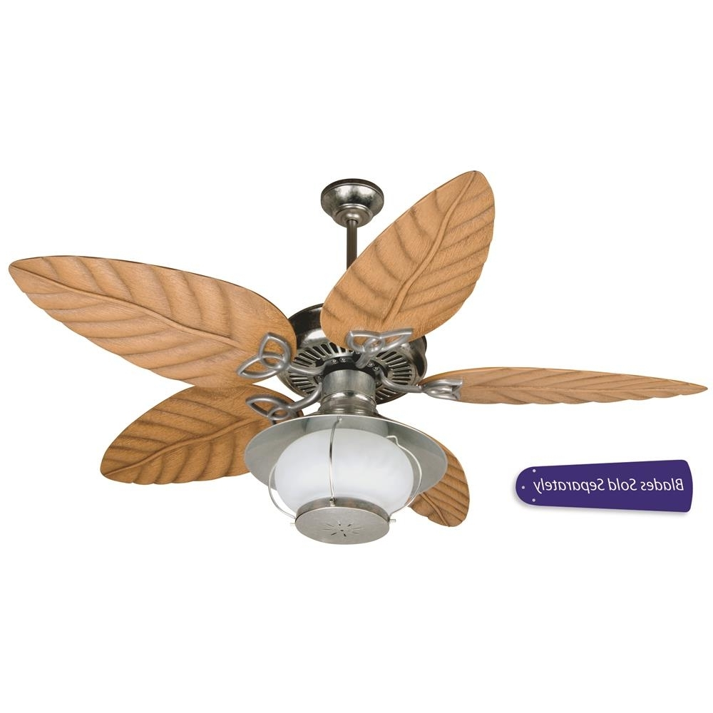 """Most Up To Date Outdoor Ceiling Fans With Galvanized Blades Inside Opxl52Gv – Craftmade Opxl52Gv Outdoor Patio Fan 52"""" Ceiling Fan In (View 10 of 20)"""