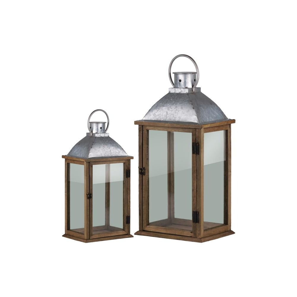 Most Up To Date Outdoor Decorative Lanterns Inside Urban Trends Collection Pewter Candle Lantern Decorative Lantern (View 9 of 20)