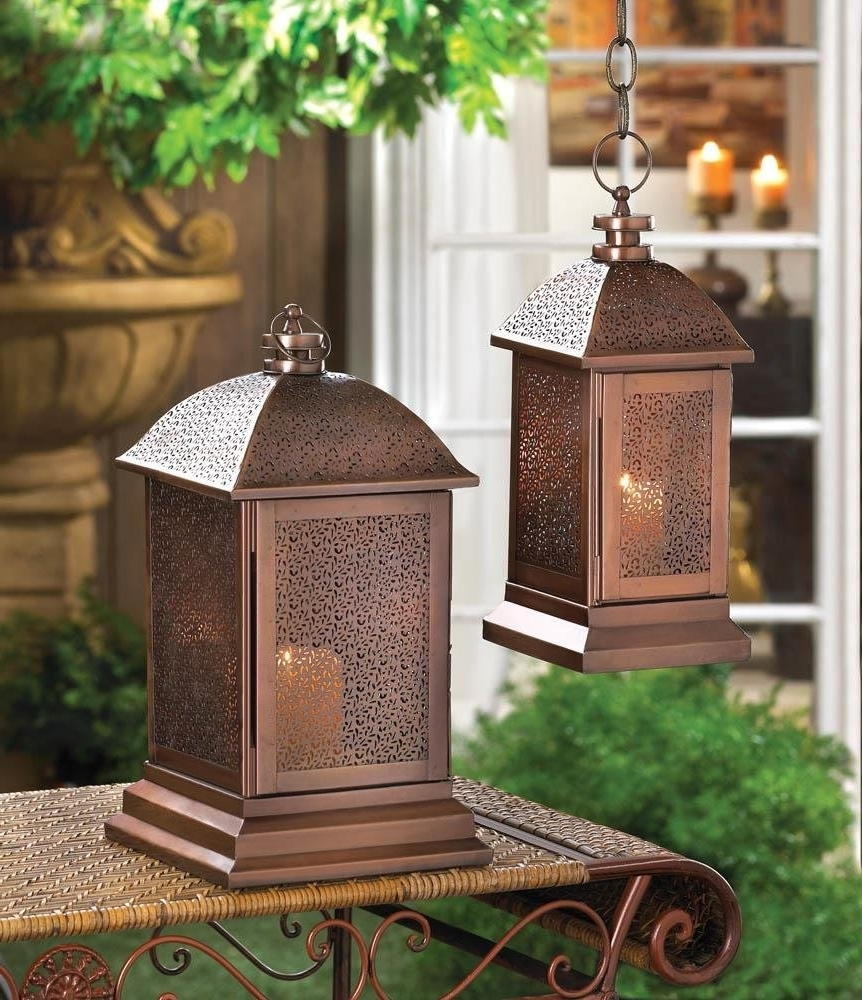 Most Up To Date Outdoor Lanterns For Patio Intended For Floor Lanterns, Peregrine Large Metal Decorative Patio House Lantern (View 9 of 20)