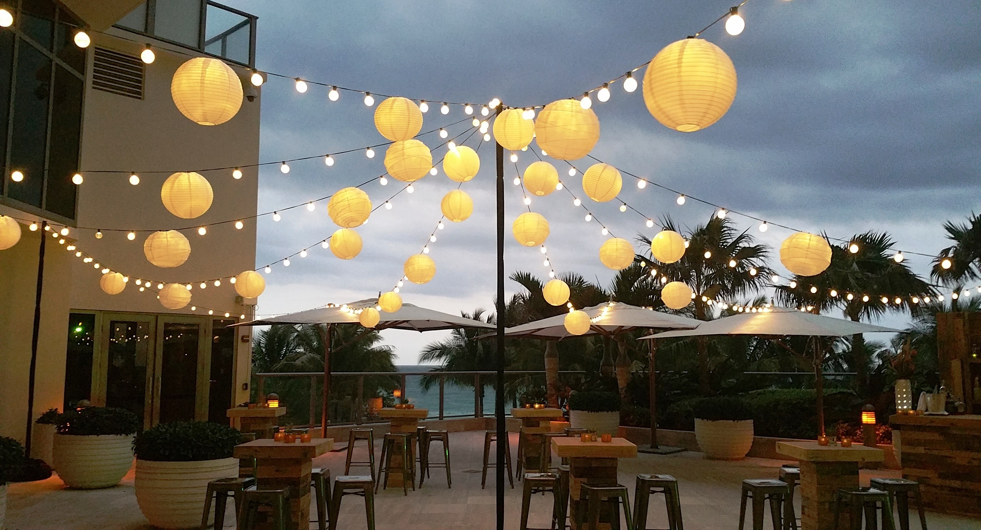 Most Up To Date Outdoor Paper Lanterns For Patio Pertaining To Plush And Gdealer Lantern Solar String Lights Ft Led Fing Waterproof (Gallery 1 of 20)