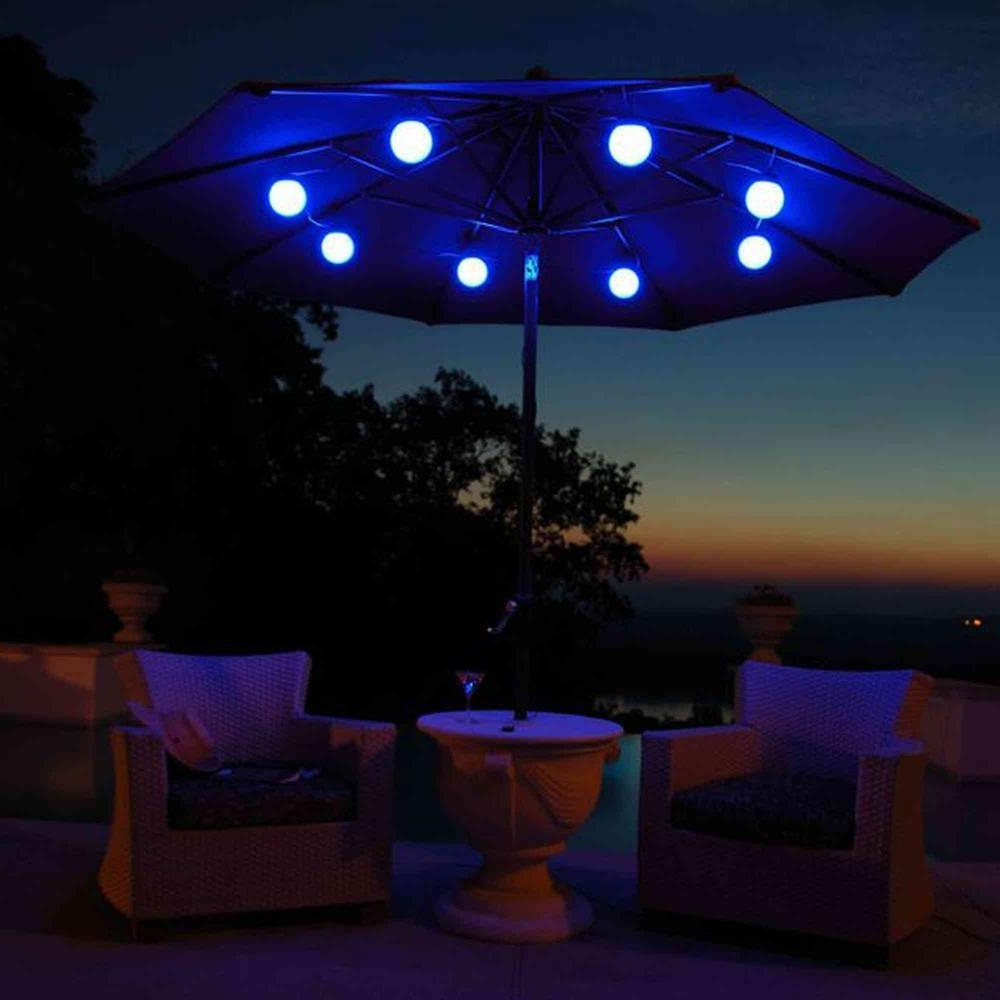 Most Up To Date Patio Umbrella Lighting — Npnurseries Home Design : Different Patio Intended For Outdoor Umbrella Lanterns (View 6 of 20)