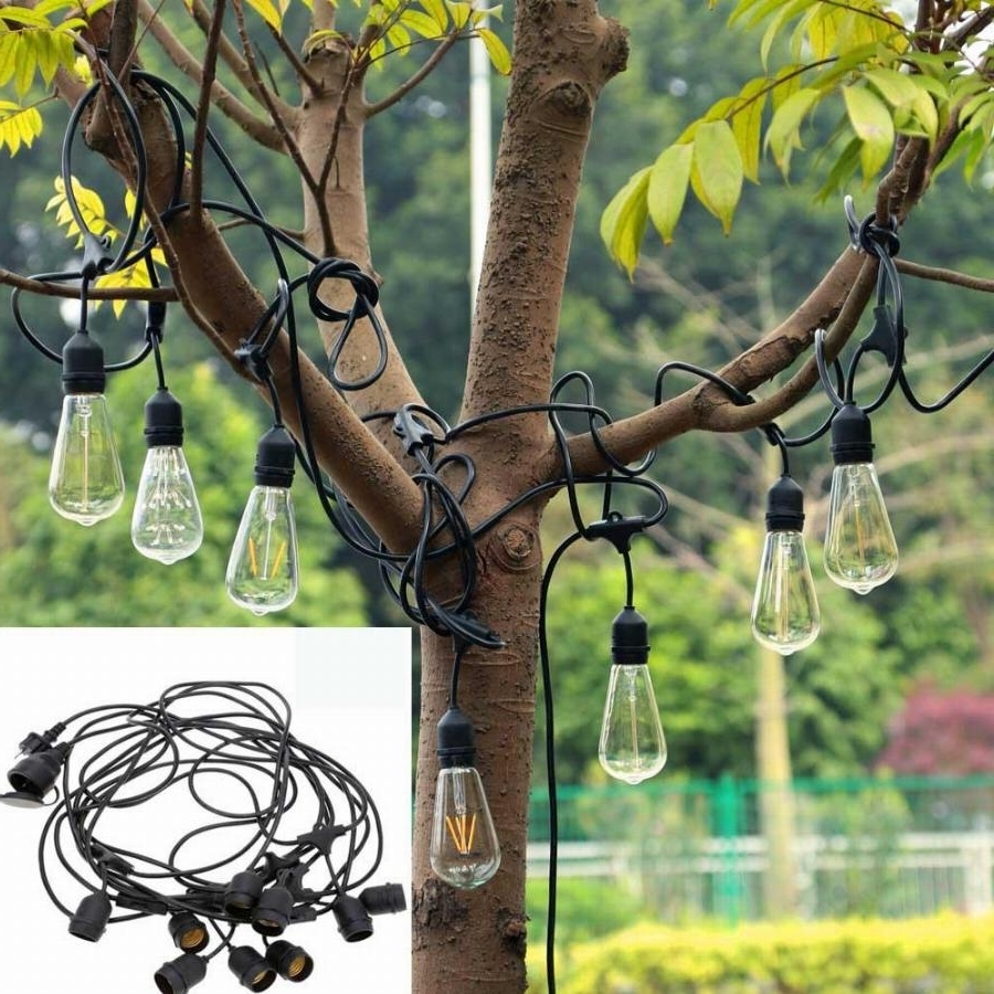 New 30Ft 9Led E27 Hanging Sockets Lanterns Outdoor Garden Fairy Led In Most Recent Outdoor Holiday Lanterns (Gallery 19 of 20)