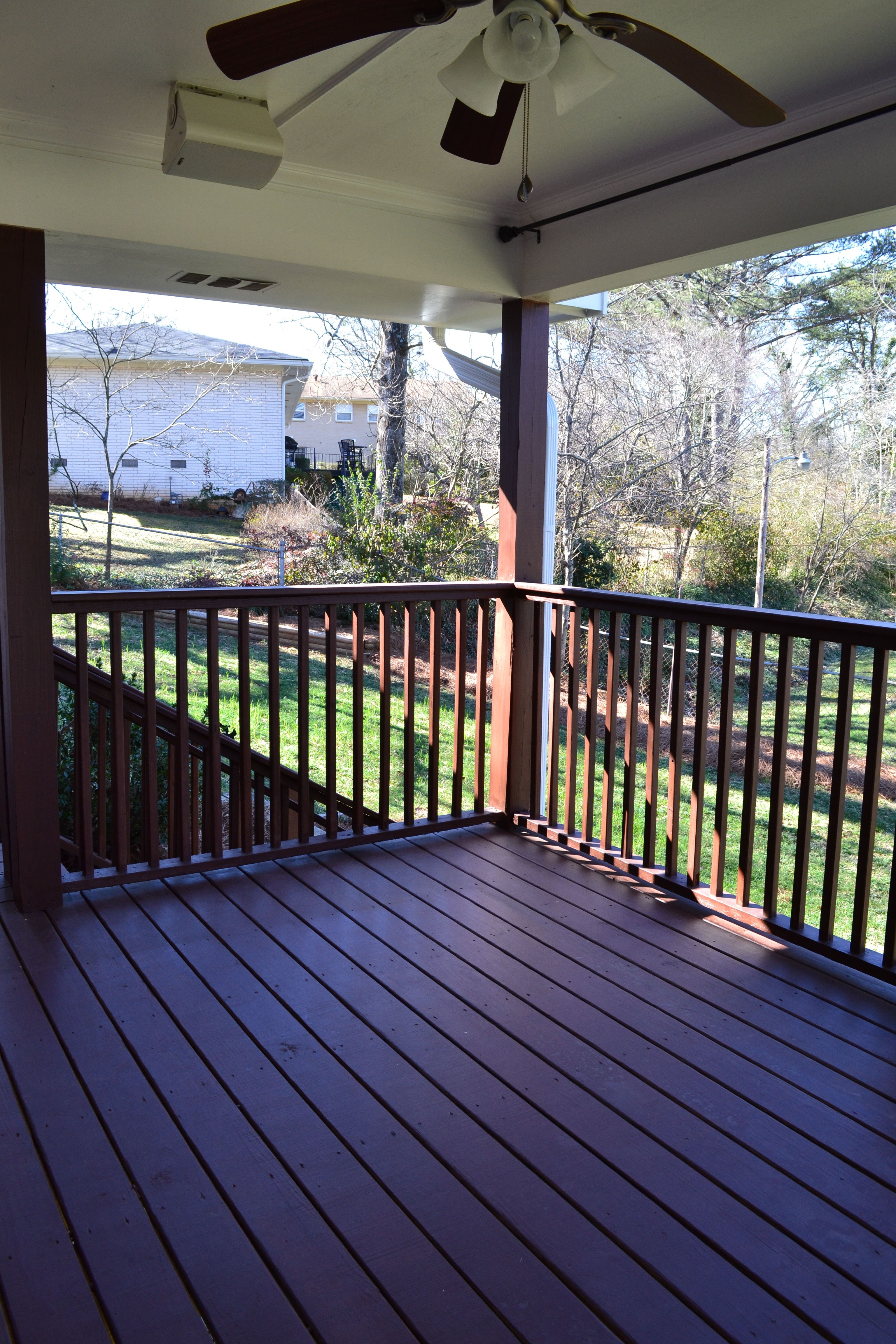 New Covered Deck With Ceiling Fan And Outdoor Speakers – Vision Pertaining To Most Current Outdoor Ceiling Fans For Decks (Gallery 5 of 20)