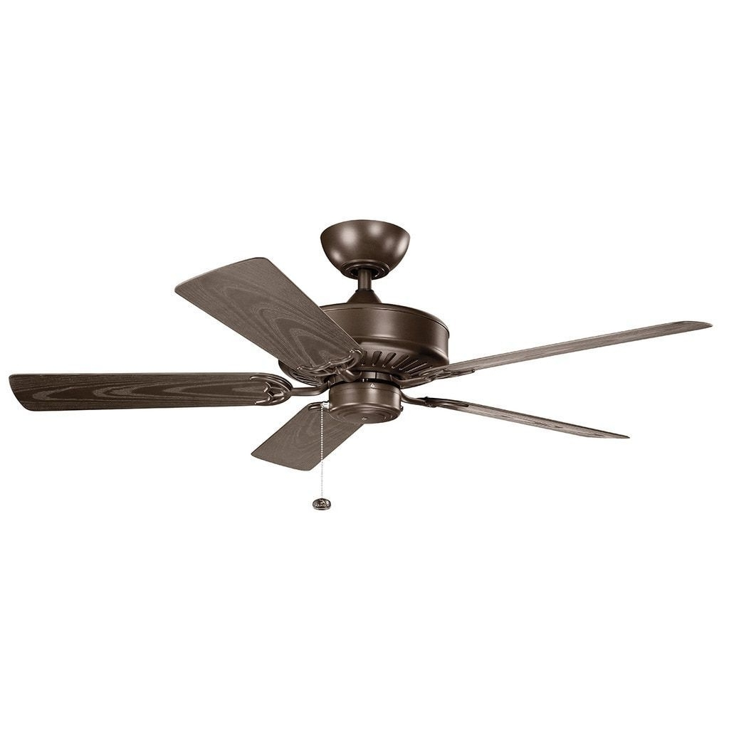 Newest Brown Outdoor Ceiling Fan With Light Within Kichler Lighting Enduro Collection 52 Inch Coffee Mocha Ceiling Fan (View 17 of 20)