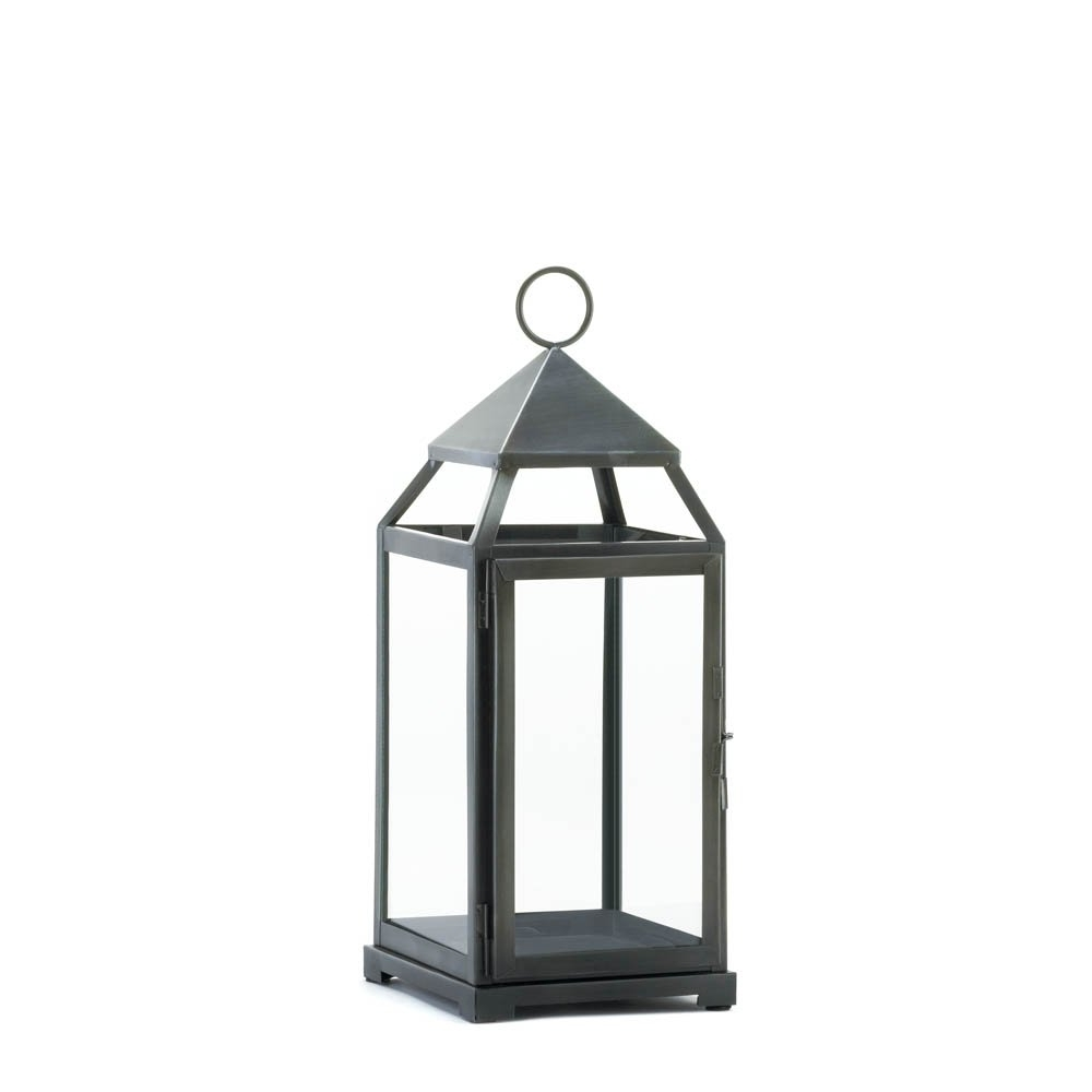 Newest Candle Lanterns Decorative, Rustic Metal Outdoor Lanterns For Intended For Black Outdoor Lanterns (Gallery 6 of 20)