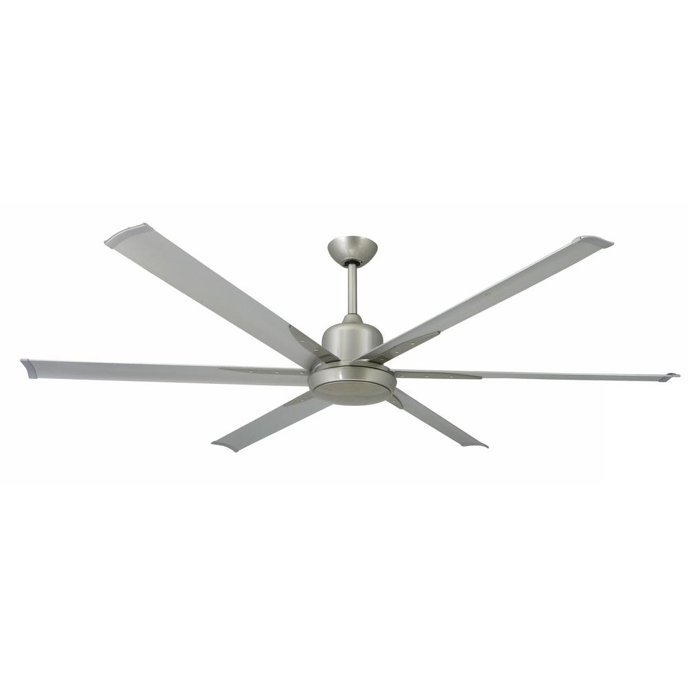 Newest Commercial Outdoor Ceiling Fans Intended For Troposair Titan 72 In. Indoor/outdoor Brushed Nickel Ceiling Fan And (Gallery 5 of 20)