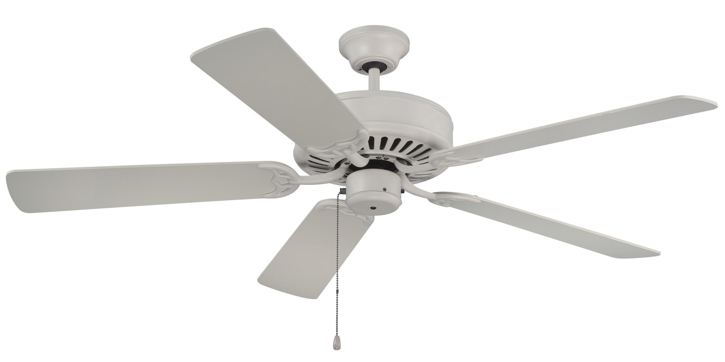 Newest Craftmade Pro Builder Ceiling Fan Model C52Aw In Antique White Within Craftmade Outdoor Ceiling Fans Craftmade (Gallery 7 of 20)